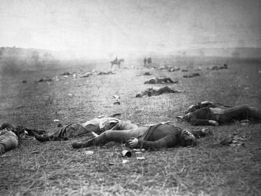 Casualties of War on the Field at Gettysburg
