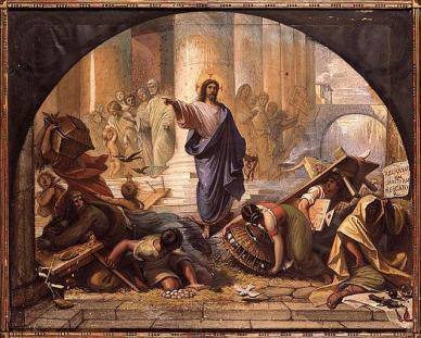 Jesus driving out the money changers 1