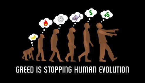human-evolution-greed