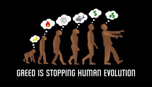 human-evolution-greed